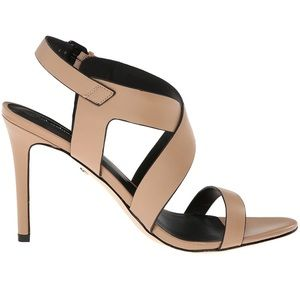 Charles David Ivette sandals in nude leather.